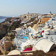Oia Village Santorini Greece Art Print