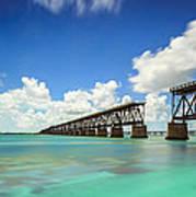 Old Bahia Honda Bridge Florida Keys Art Print