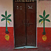 Old Doors India, Varanasi Art Print