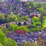 Old Stirling Bridge And Houses As Visible From Stirling Castle Art Print