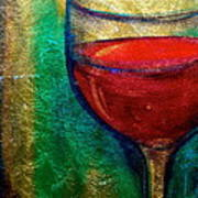 One More Glass Art Print by Debi Starr