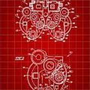 Optical Refractor Patent 1985 - Red Art Print