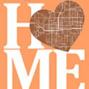 Orlando Street Map Home Heart - Orlando Florida Road Map In A He Art Print