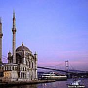 Ortakoy Mosque Art Print