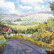 Out Santa Rosa Creek Road Art Print by Joyce Hicks