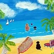 Palmy Beach Art Print