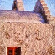 Panagia Paraportiani Church In Mykonos Island Art Print