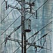 Pole With Transformer Art Print by William Cauthern