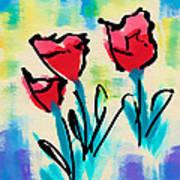 3 Poppies Art Print