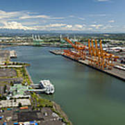 Port Of Tacoma, Tacoma Art Print