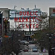 Public Market Center In Seattle Art Print