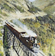 Railroad Bridge, C1870 Art Print