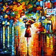 Rain Princess Art Print by Leonid Afremov
