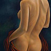 Red Silk Art Print