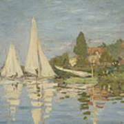 Regattas At Argenteuil Art Print