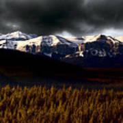 Rocky Mountains In Winter Art Print