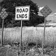 Route 66 - End Of The Road Art Print
