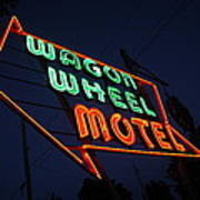Route 66 - Wagon Wheel Motel Art Print