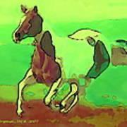 Running Horse Art Print by David Skrypnyk