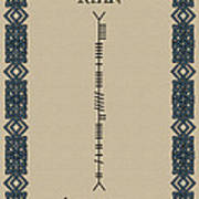 Ryan Written In Ogham Art Print