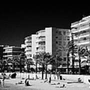Salou Waterfront Properties On The Costa Dorada Catalonia Spain Art Print