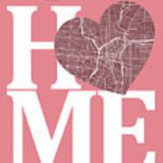 San Antonio Street Map Home Heart - San Antonio Texas Road Map I Art Print