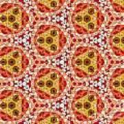 Seamlessly Tiled Kaleidoscopic Mosaic Pattern Art Print