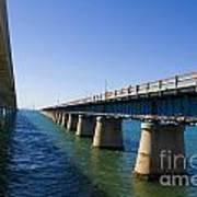 Seven Mile Bridge Florida Keys Art Print