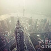 Shanghai Pudong Skyline Art Print by Fototrav Print