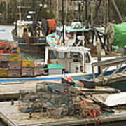 South Bristol And Fishing Boats On The Coast Of Maine Art Print