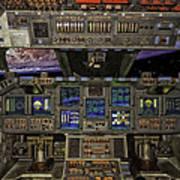 Space Shuttle Cockpit Art Print
