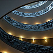 Spiral Staircase At The Vatican Art Print