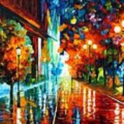 Street Of Hope Art Print by Leonid Afremov