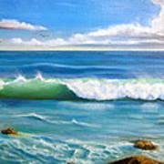 Sunny Seascape Art Print by Heather Matthews