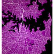 Sydney Street Map - Sydney Australia Road Map Art On Colored Bac Art Print