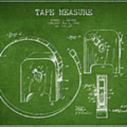 Tape Measure Patent Drawing From 1906 Art Print