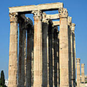 Temple Of Olympian Zeus In Athens Art Print by George Atsametakis