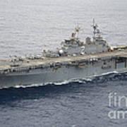 The Amphibious Assault Ship Uss Essex Art Print