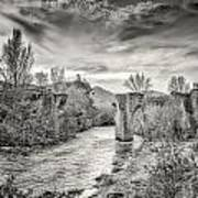 The Ancient Bridge At Ponte Novu In Corsica Art Print