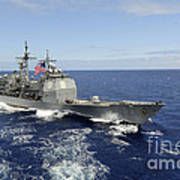 The Guided-missile Cruiser Uss Art Print