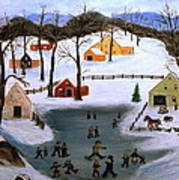 The Ice Pond Art Print