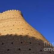 The Walls Of The Ark At Bukhara In Uzbekistan Art Print