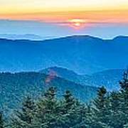 Top Of Mount Mitchell Before Sunset Art Print