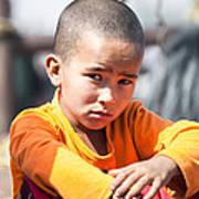 Uighur Child At Kashgar Market Xinjiang China Art Print