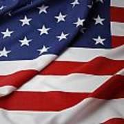 Usa Flag Art Print by Les Cunliffe