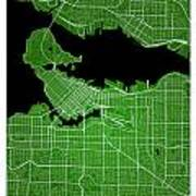 Vancouver Street Map - Vancouver Canada Road Map Art On Colored  Art Print