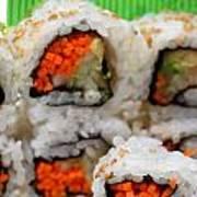 Vegetable Sushi Art Print