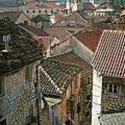 View Of Kotor Town In Montenegro Art Print