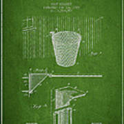 Vintage Basketball Goal Patent From 1925 Art Print