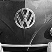 Volkswagen Vw Bus Front Emblem Art Print